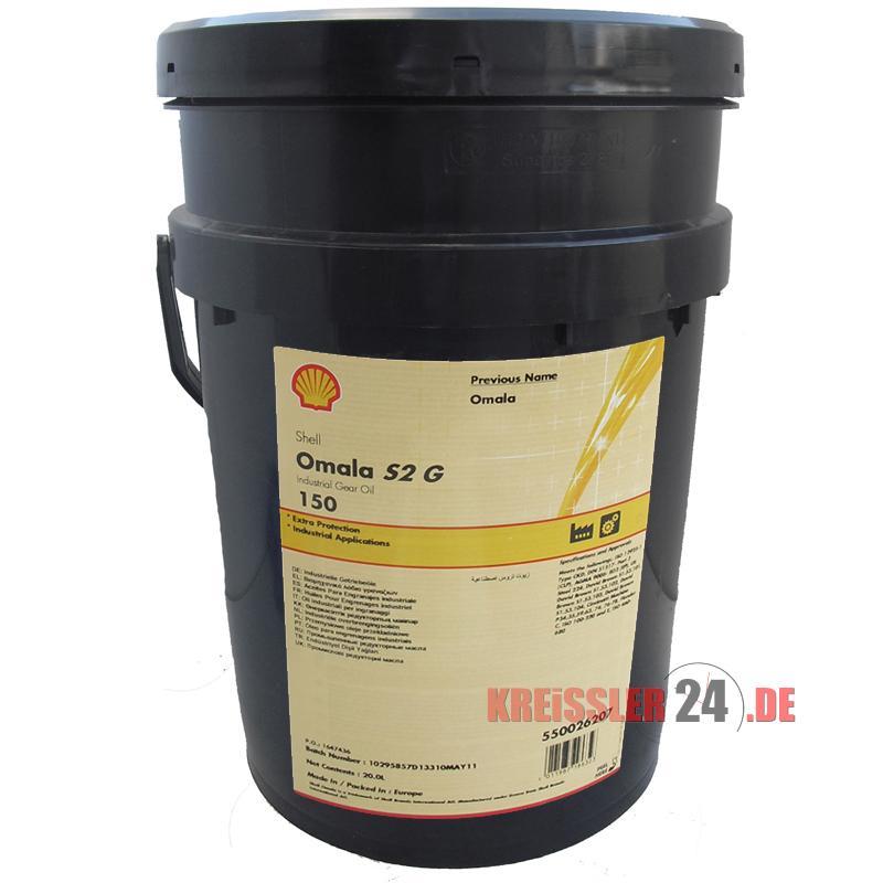 Dầu hộp số bánh răng Shell Omala 150 (Đổi tên Shell Omala S2 G150)